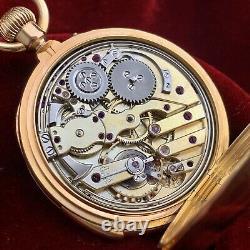 Lefebre et Fils Repeater superb quality antique gold pocket watch