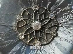 Longines Antique Enamel Diamond 18K Gold Pendant Watch LadiesEstate Jewelry 20g