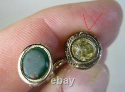 Lot 6 Antique Victorian Pocketwatch Fob Key Winder Goldtone Some Jeweled