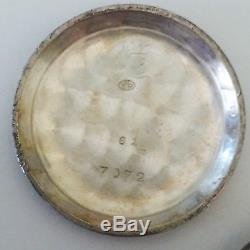 Lot Of 3 Antique Silver Pocket Watch Lapel 0-6s Enamel Engraved Tricolour