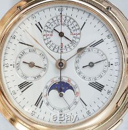 Louis Audemars Grand Complication 213g / 7Oz 18k Gold Pocket watch Book & Box