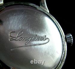 Luxury Men's Gift Antique 1937 Large Marriage Pocket Watch Longines movmnt