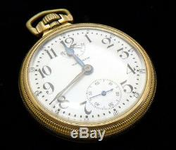 M63 Waltham VANGUARD 16s 23j Antique Gold Filled Pocket Watch with WIND INDICATOR