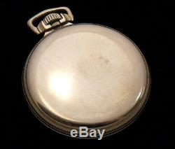M64 Elgin FATHER TIME 16s 21j Antique Railroad GF Pocket Watch with WIND INDICATOR