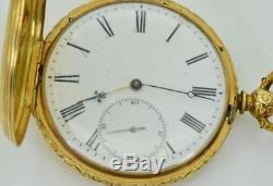 MUSEUM antique 18k gold full hunter engraved Pateck&Cie watch for Chinese market
