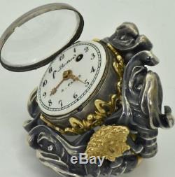 MUSEUM antique Berthoud a Paris 18k gold&silver Verge Fusee mens ring watch, 1800