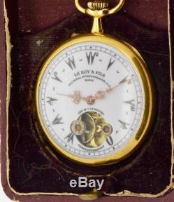 MUSEUM antique LeRoy a Paris 14k gold pocket watch for the Ottoman Sultans Court