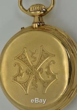 MUSEUM antique Patek Philippe 18k solid gold calendar pocket watch c1890. RARE