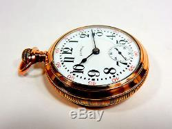 Mega Rare Antique 18s Railroad Illinois Pennsylvania Special Gold Pocket Watch
