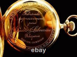 Mega Rare Antique Patek Philippe Chronometro Gondolo 18K Rose Gold Pocket Watch