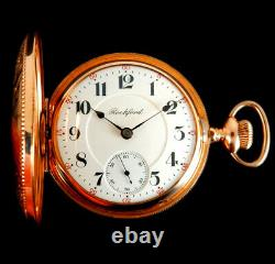 Mega Rare Antique Railroad 18s 21J Rockford Grade 810 Gold Pocket Watch Mint