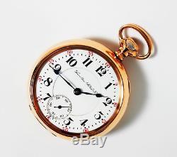 Mega Rare Antique Railroad 18s 21j Hamilton 942 Pocket Watch Mint Serviced
