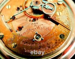 Mega Rare Antique Railroad 18s Hamilton 944 2-Tone Gold Pocket Watch