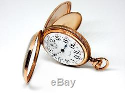 Mega Rare Antique Railroad 21J 18s 2-Tone Bunn Special Pocket Watch Serviced