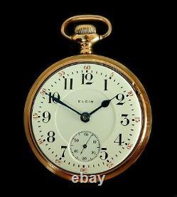 Mega Rare Antique Railroad 21J 18s Elgin Father Time Pocket Watch Mint Serviced