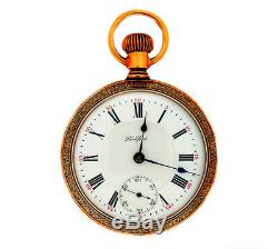 Mega Rare Antique Railroad 21J 18s Rockford 910 Gold Pocket Watch Mint Serviced