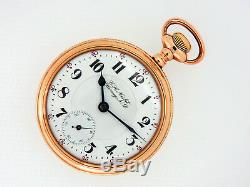 Mega Rare Antique Railroad 21J 18s Rockford 918 RR Inspector Dial Pocket Watch