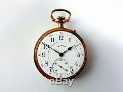Mega Rare Antique Railroad 21J Bunn Special 2 Star Gold Movement Pocket Watch