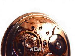 Mega Rare Antique Railroad 23J 18s Waltham Vanguard Rose Gold Pocket Watch Mint
