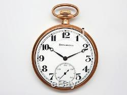 Mega Rare Antique Railroad Burlington Illinois 21J Pocket Watch Mint Serviced