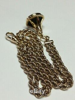 Men's Antique Victorian 10k Gold Double Pocket Watch Chain, 14k Blood Stone Fob