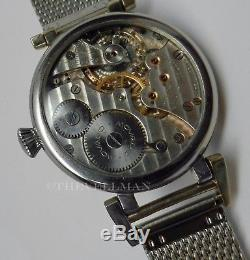 Mens Authentic Swiss Movado Antique WWII Mechanical Pocket Watch Conversion