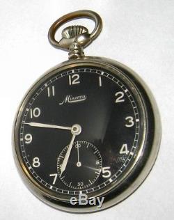 Military MINERVA ORGINAL Antique Watch World War II rare model