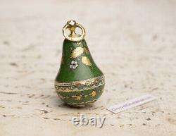 Miniature PEAR SHAPE 18k GOLD & ENAMEL VERGE FUSEE Antique Pocket Watch