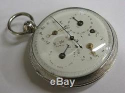 Montre à coq à complications Antique verge fusee pocket watch Spindeltaschenuhr