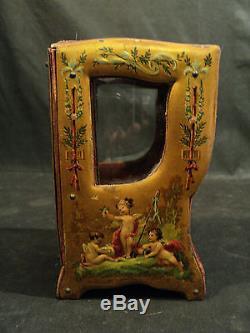 Museum Quality Rare French Vernis Martin Vitrine Musical Pocket Watch Display