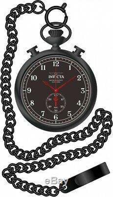 New Invicta 19674 50mm Vintage Steel Pocket Watch