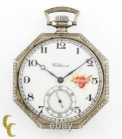 Nickel Octogon Waltham Antique Open Face Pocket Watch Gr 210 12S 7 Jewel