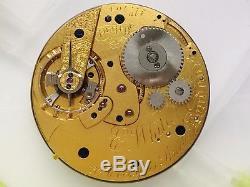 Nicole Nielsen 4 E. White centre sec 43.5mm higrade antique pocket watch movement