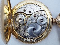 Old Antique Running Elgin 0s Pocket Watch Keystone J Boss Double Hunter Case