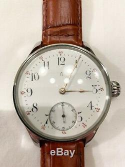Omega 1895 cal. 19''' 19LB Restored Pocket Marriage Watch Original Enamel Dial
