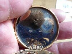 Omega 9ct Gold 21 Jewels Antique Gents Pocket Watch Working Dennison Case