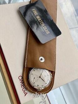 Omega Vintage Antique Rose Pink Gold Pocket Mens 1950 Swiss hand winding watch