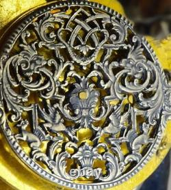 One of a kind antique French 17th C. Skull Verge Fusee silver pocket watch c1690s