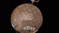 Oriosa 14K Solid GOLD Union SA Antique Swiss Pocket Watch (Taschenuhr) 61g