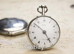 PAIR CASED OTTOMAN TURKISH Market Verge Fusee Antique Pocket Watch