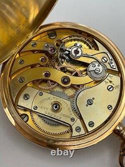 Patek Philippe Gondolo Chronometero Antique Solid 18k Gold Pocket Watch