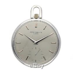 Patek Philippe Manual 48mm Steel Mens Vintage Pocket Watch