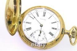 Paul Moser antique 14K yellow gold elegant high fashion mechanical pocket watch