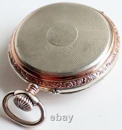 Pocket Watch Langendorf Silver Antique Swiss Made Vintage Swiss Made