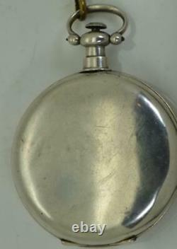 Qing Dynasty Chinese Duplex Guinand silver pocket watch. Fancy enamel dial