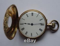 Quality Antique 18ct Gold Half Hunter Pocket Watch, John Bennett London