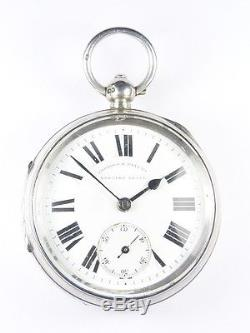 Quality Antique Silver Patent English Lever Pocket Watch Chester 1899