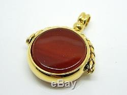 Quality Swivel Spinning Fob Gold Plated Antique Look Albert Watch Chain Pendants