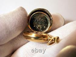 RARE 18K Antique Tiffany & Co Small Ladies' M Pocket Watch 1889 Paris Expo Box