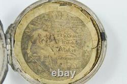 RARE 18th CENTURY Thomas Carpenter SOLID SILVER VERGE FUSEE POCKET WATCH 1789